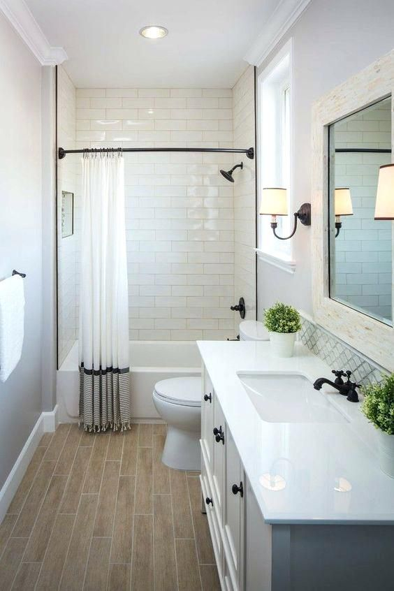 Modern Small Bathroom Ideas With Tub Upstairs Guest Bath White Is Simple An Small Bathroom Makeover Bathroom Tub Shower Combo Bathroom Remodel Master