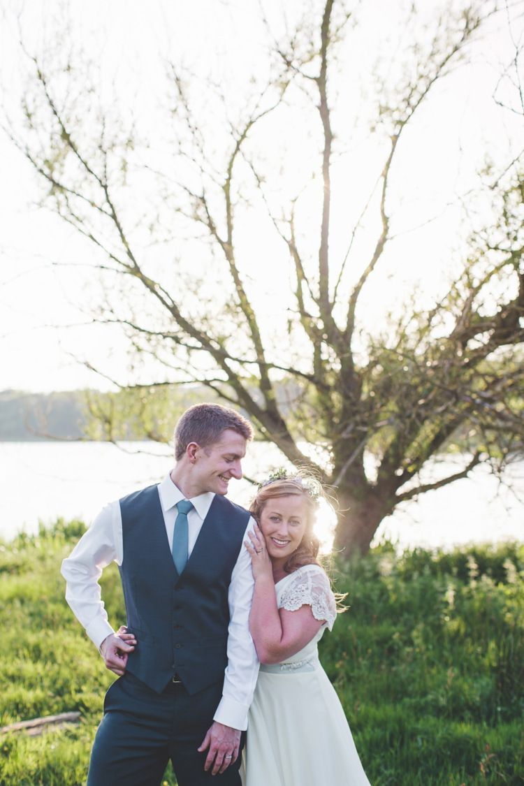 An Outdoor Humanist Ceremony for a Wildflower Wedding in Shades of Blue and Grey | Love My Dress® UK Wedding Blog