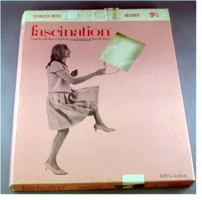 Vintage Nylon Stockings Seamless Fascintation New in Box Size 9 1 2 Reinfor Toe