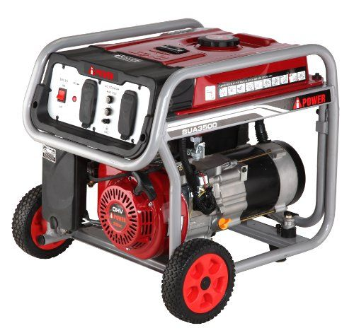 A-iPower 3,500-Watt Gasoline Powered Manual Start Generator