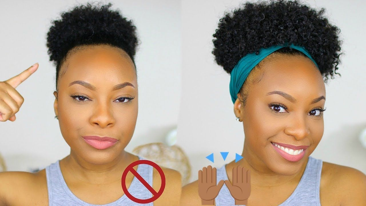 How To Huge Puff Tutorial On Short Natural Hair No Extensions