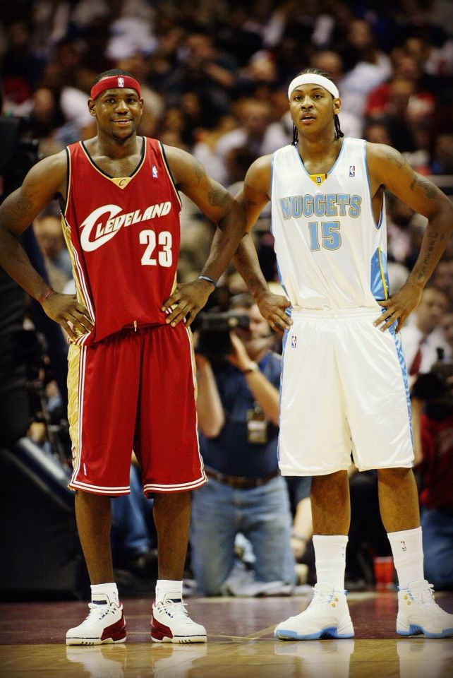 Lebron James And Carmelo Anthony Rookie Year Basketball