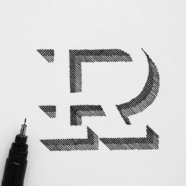 Letter R Design Graphicdesign Handmade Typography Handmadefont Type