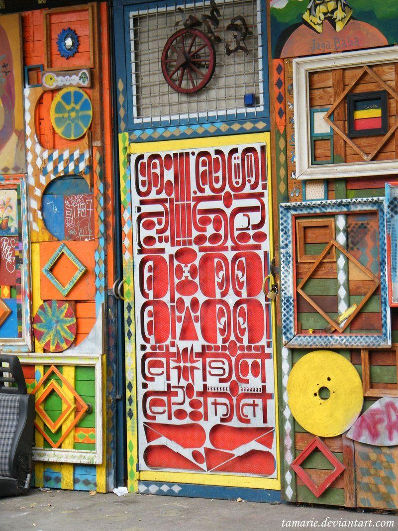 Metelkova City, Ljubljana, Slovenia. Bring the colors to the door by Tamarie.deviantart.