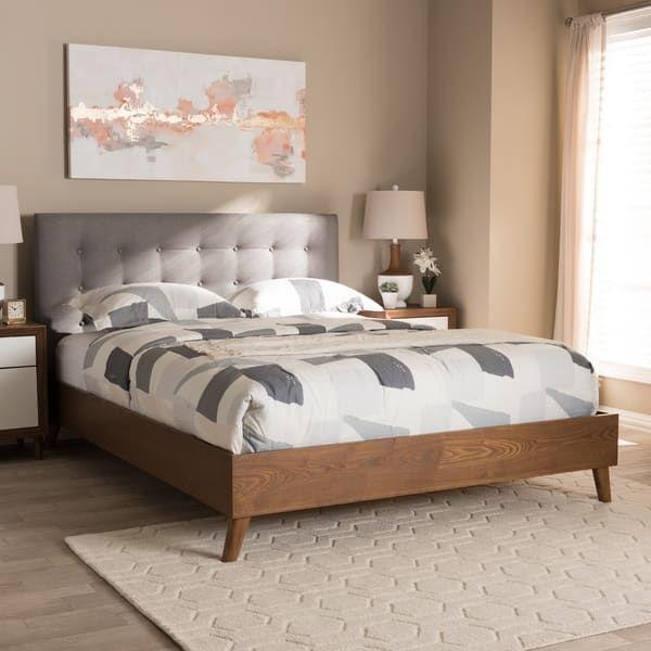 Best Carson Carrington Vasa Mid Century Fabric Platform Bed 400 x 300
