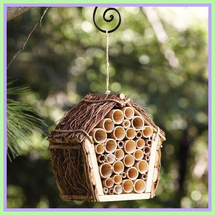diy mason bee house bamboo