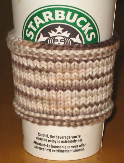 Organic Cotton Coffee Sleeve - Free knitting pattern | DIY gift ...