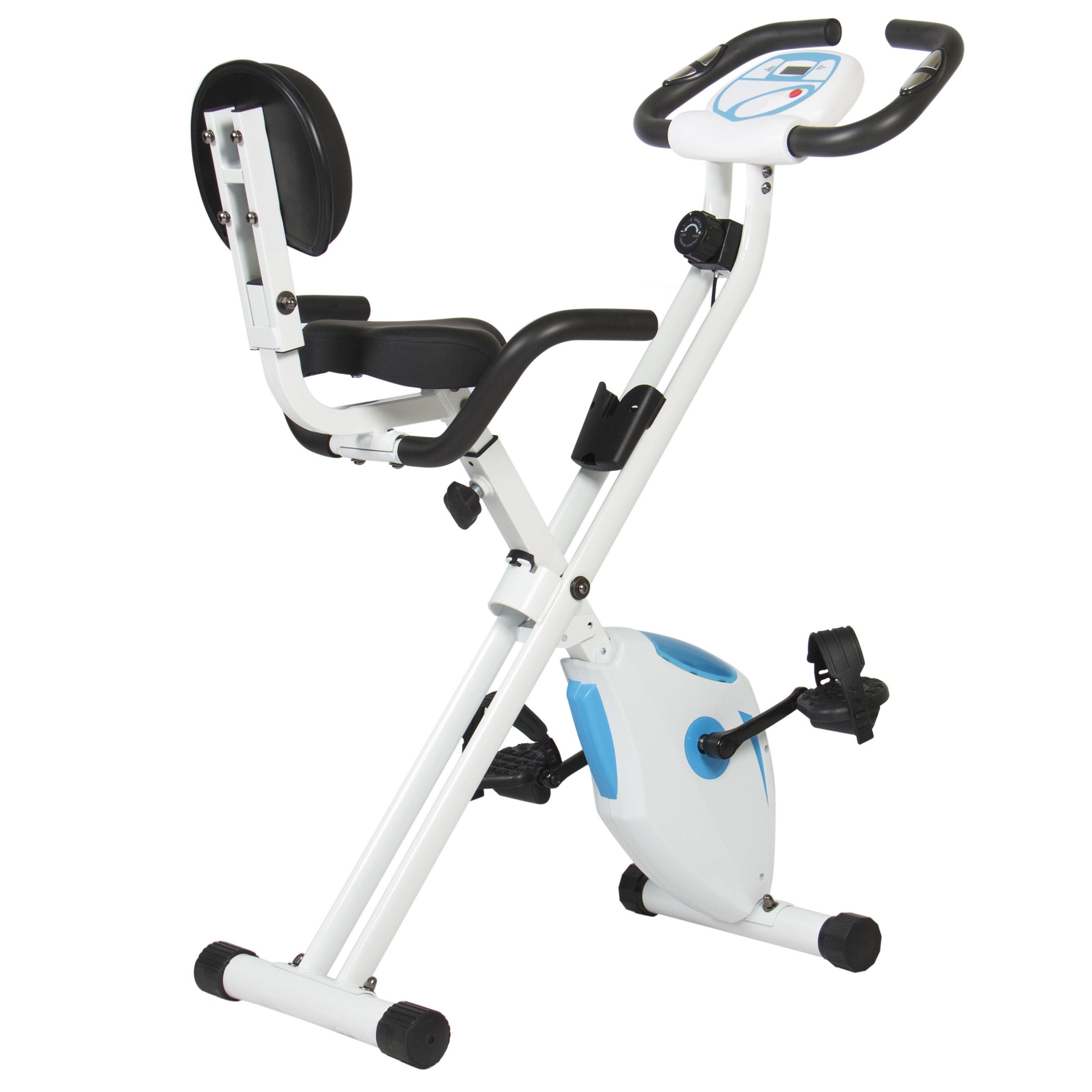 Magnetic Folding Recumbent Exercise Bike With Digital
