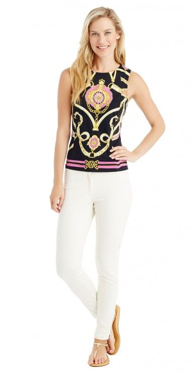 Tania Sleeveless Top in Westminster by J.McLaughlin
