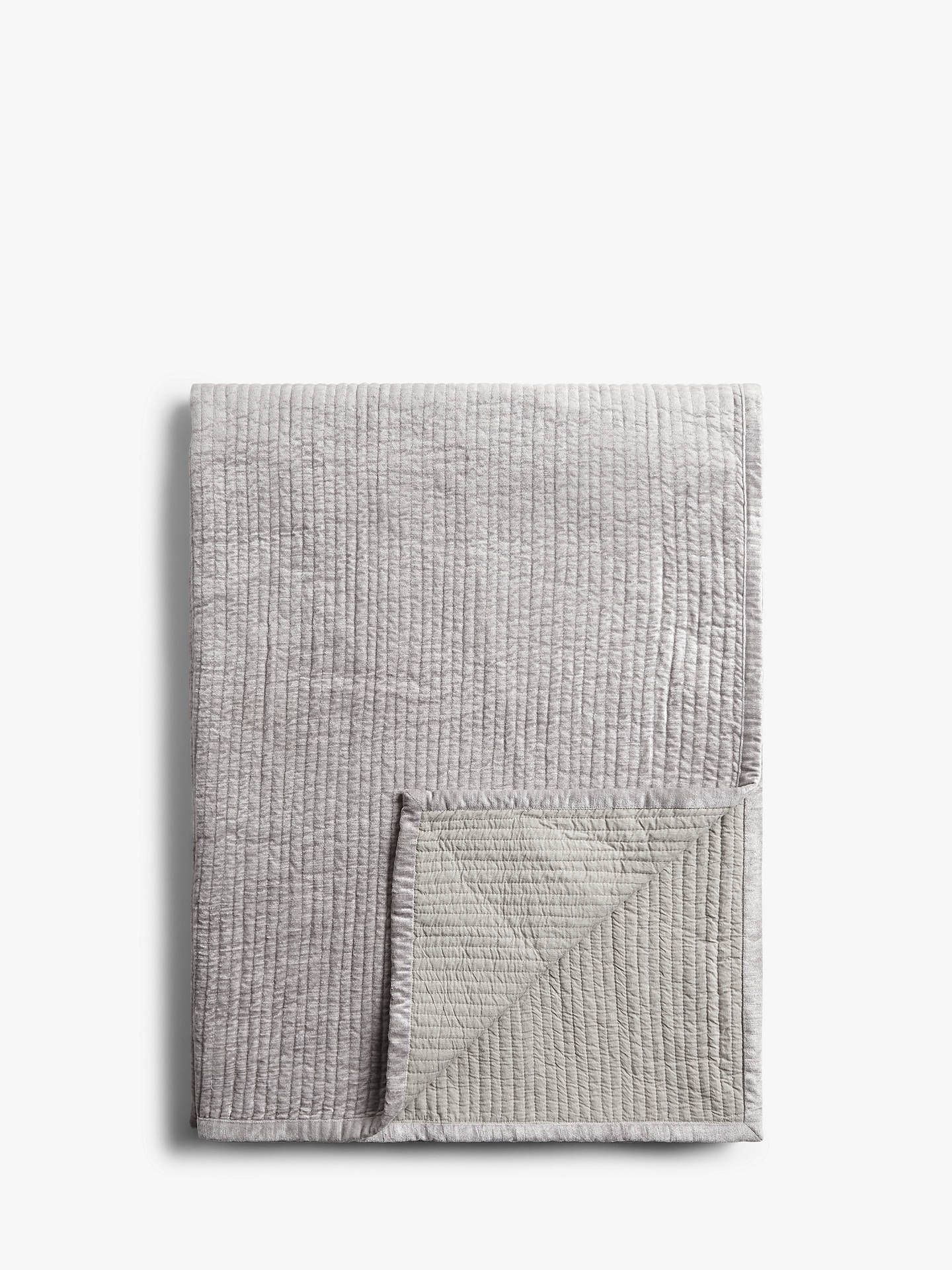 John Lewis & Partners Lightweight Velvet Bedspread, Cool