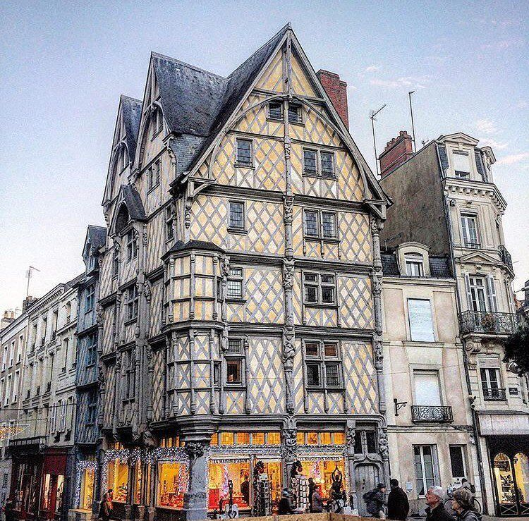 """Built in 1491, the famous half-timbered """"Maison d'Adam"""" in ..."""
