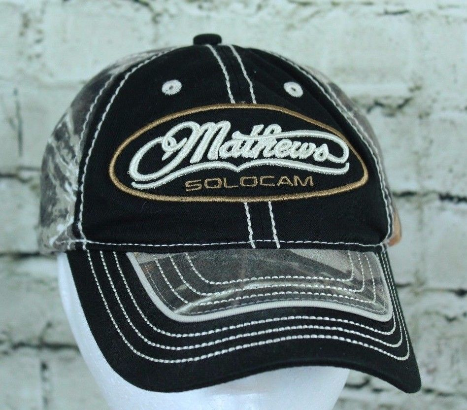 Bowtech Hats: Mathews Archery Solocam Camo Adjustable Trucker Cap