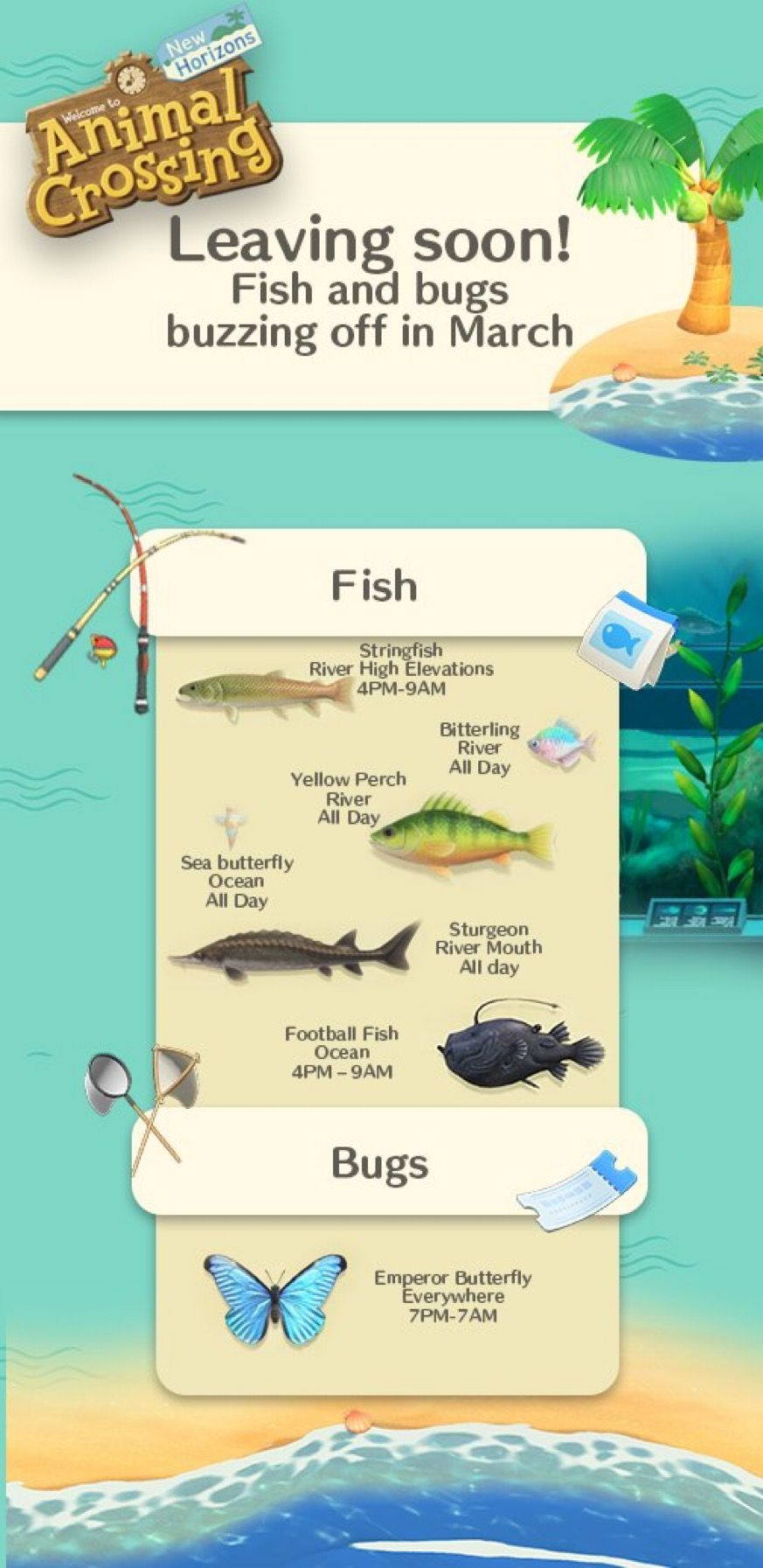 15+ Animal crossing march fish images