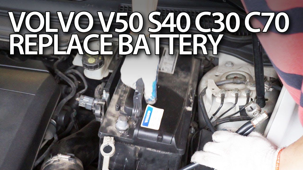 how to replace car battery in volvo c30 s40 v50 c70 maintenance service cars diy [ 1280 x 720 Pixel ]