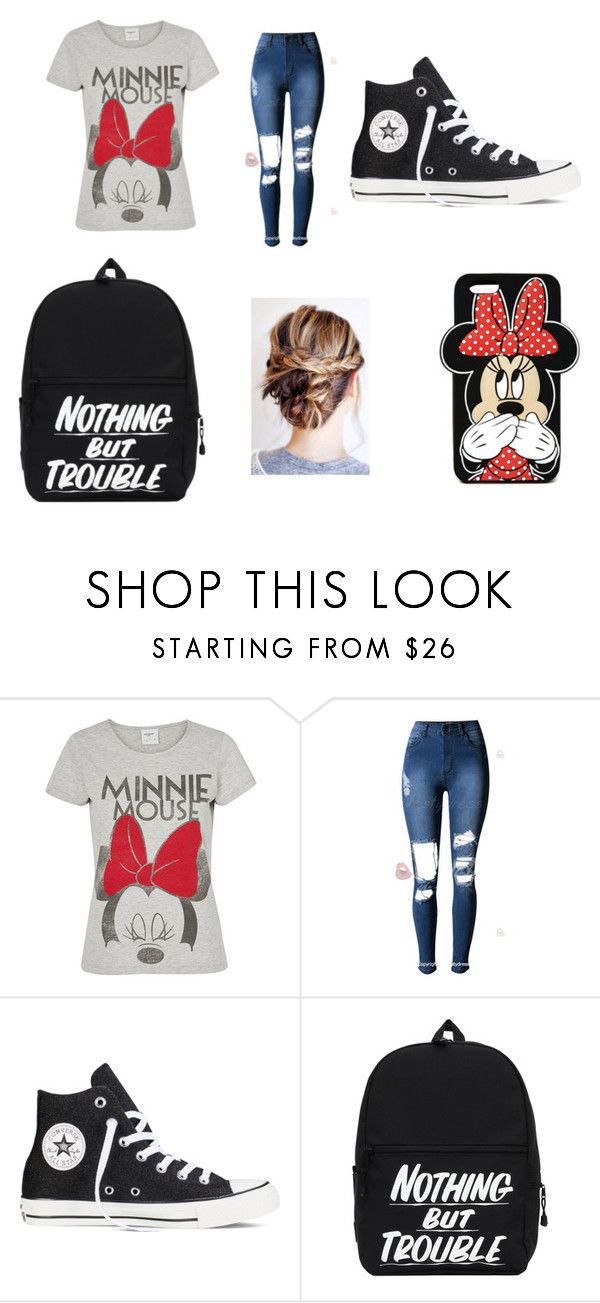 """casual cute"" by meganisweird on Polyvore featuring Vero Moda, Converse and Forever 21"