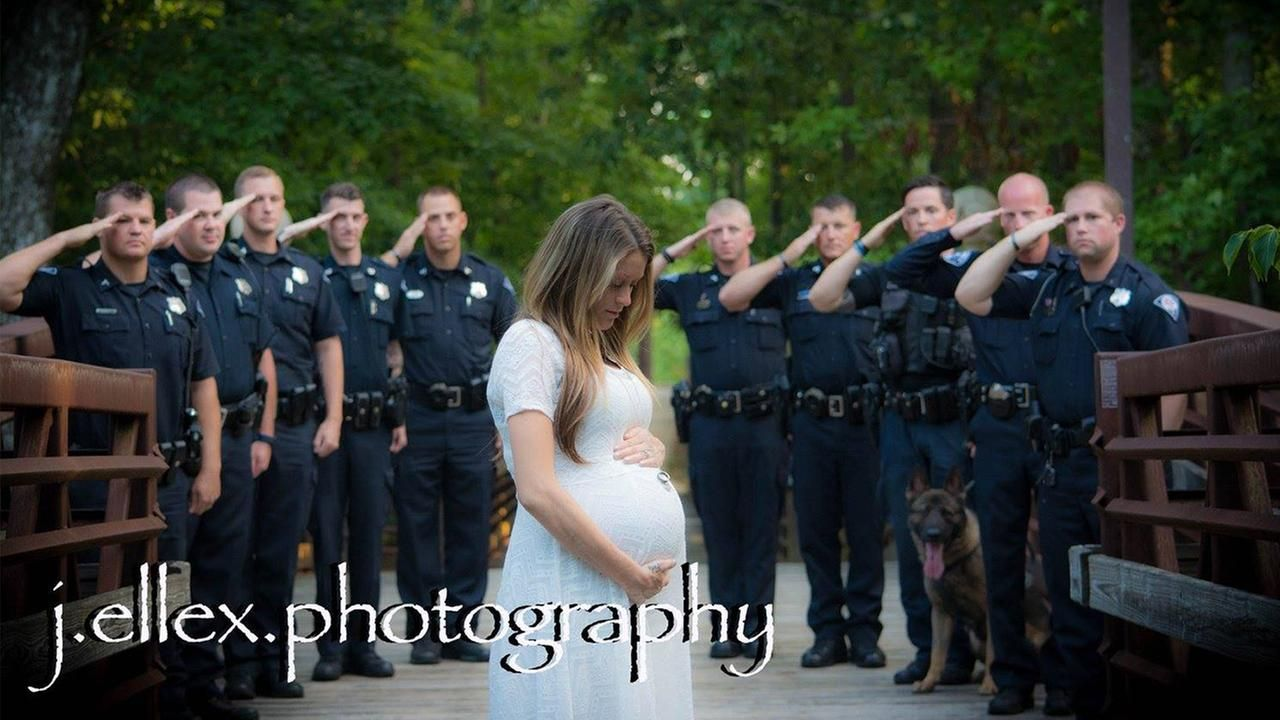 Fallen Officer S Wife Honored By Police In Maternity Photos Fallen Police Officer Police Wife Life Police