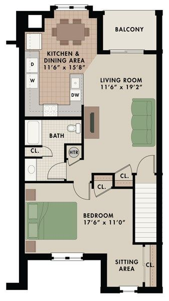 Leed 1 Bedroom 1 Bathroom Top Floor Private Entrance 917 Sq Ft Apartments For Rent Floor Plans Bathroom Top