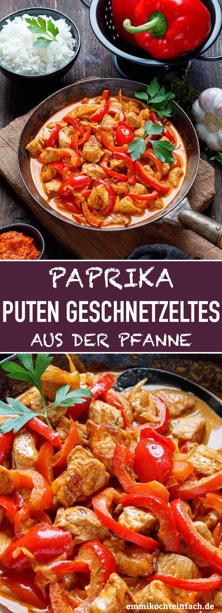Paprika Putengeschnetzeltes aus der Pfanne - emmikochteinfach
