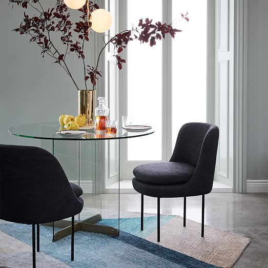 Modern Curved Upholstered Dining Chair Linden Dining Dining - Curved-upholstered-dining-chair