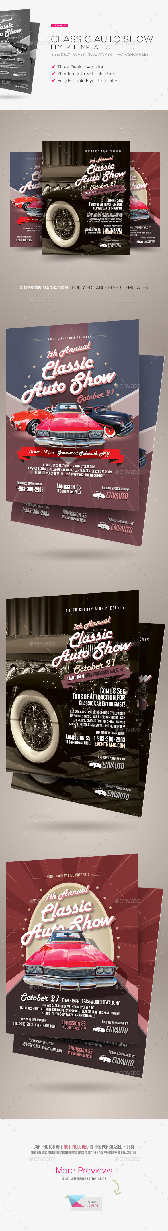 Car Show Flyer  Vintage  Classic By Nathan Knight Design On