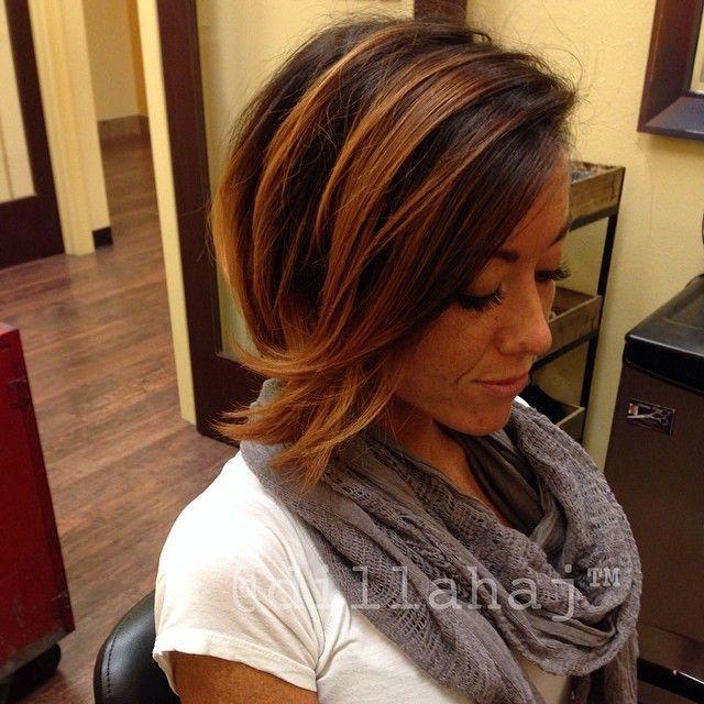 Frisuren mittellang mit farbe