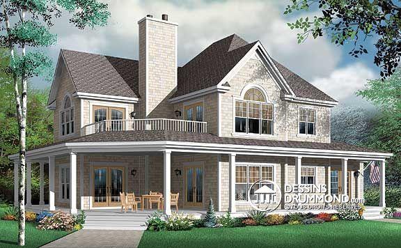 plandemaison #champêtre #campagne Plan de maison de rêve plan