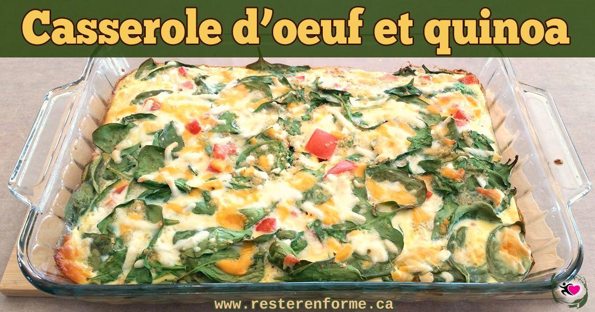 Casserole d'oeufs aux quinoa et légumes   Repas, Déjeuner ...