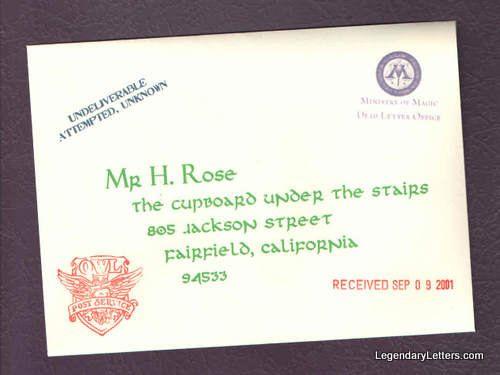 Dead Letter Office Late  Lost Hogwarts Acceptance Letter