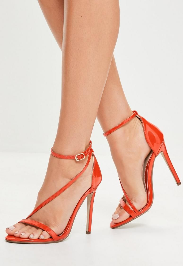 0ee4c686b0b Red Asymmetric Strappy Sandals