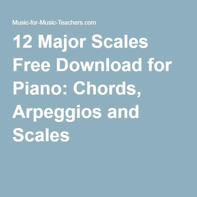 12 Major Scales Free Download For Piano Chords Arpeggios And