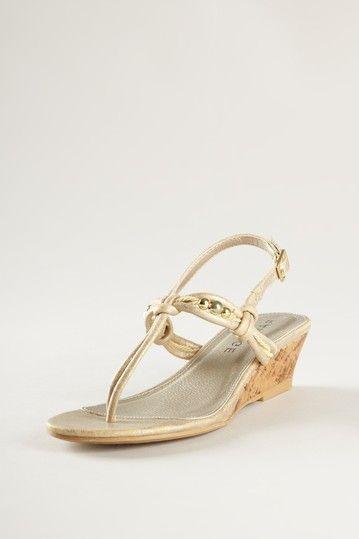 Sugar and Rampage Cairo Thong Wedge Sandal