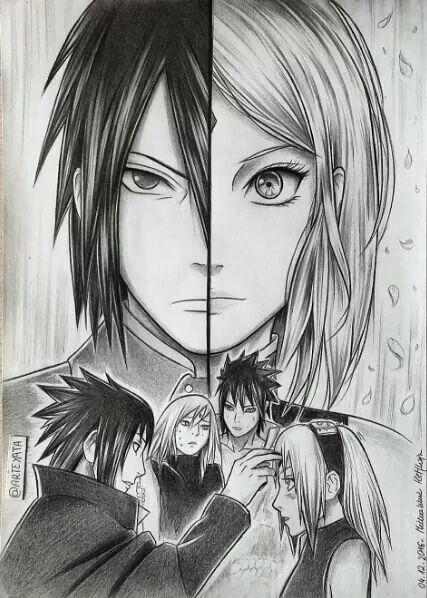 sakura sasusaku and sasuke image mazzon pinterest anime