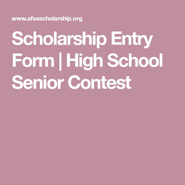 Scholarship Entry Form  High School Senior Contest  Adhd