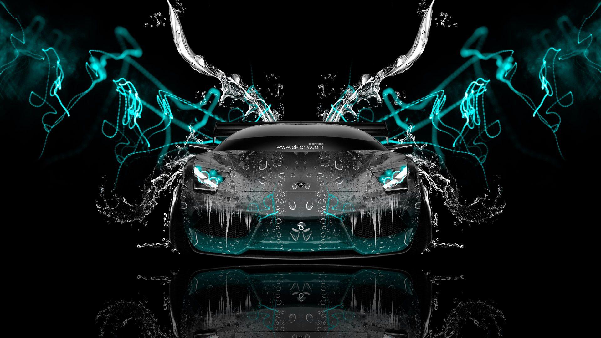 Lamborghini Murcielago Front Water Car 2014 El Tony