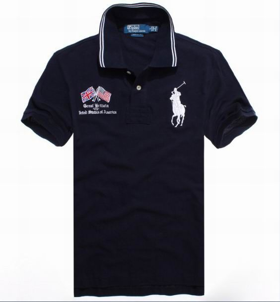b9077ca727d4f Ralph Lauren Crossed Flags Polo Big Pony Black