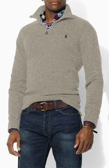 1dda9d632fed5 polo ralph lauren half-zip pullover   Clothes   Pinterest   Mens ...