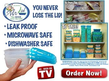 Mr Lid Never Lose A Cover Again Containers With Lids Attached Leak Proof