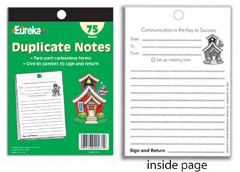 Notes home with a carbon copy. EVERY TEACHER NEEDS THESE! they have saved my butt on several occasions and they're great documentation.