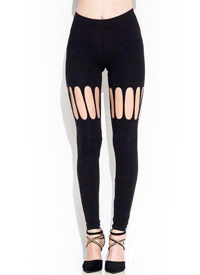 Cut Out Black Leggings   DIY   Pinterest   Pants, Black and Sexy