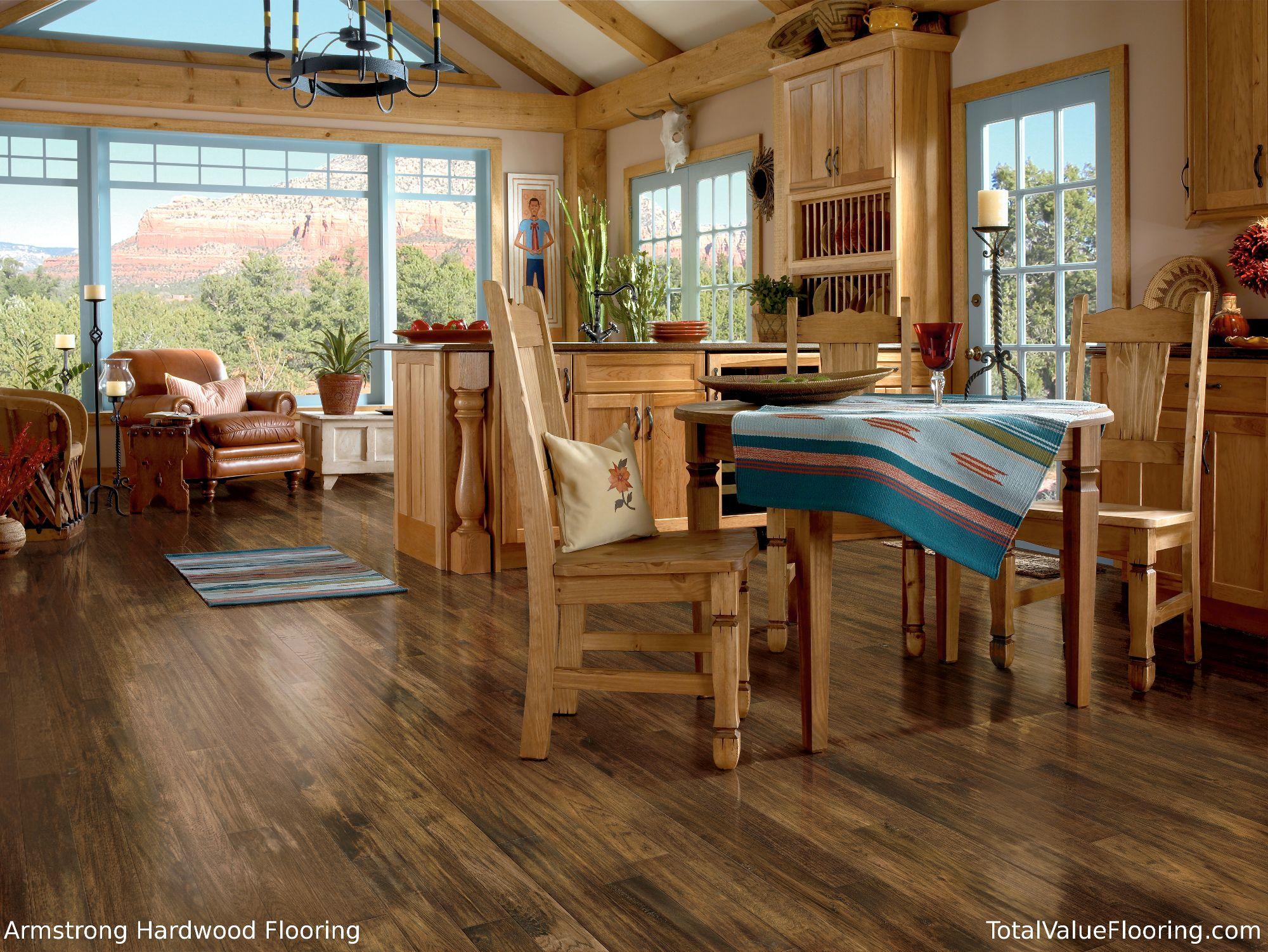 Handscraped Hickory River House Engineered flooring
