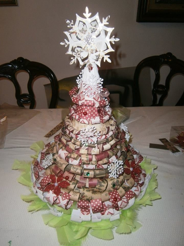 Árvore de Natal em Scrapbooking By Sandra Carvalho Designs
