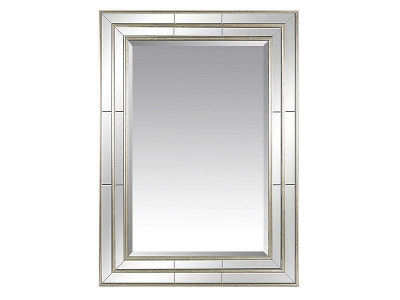 Espejos marco plateado espejo decorativo mold a mano for Espejo vintage plateado