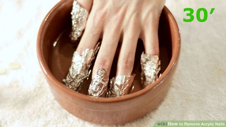 3 Ways To Remove Acrylic Nails Wikihow Remove Acrylic Nails Soak Off Acrylic Nails Take Off Acrylic Nails