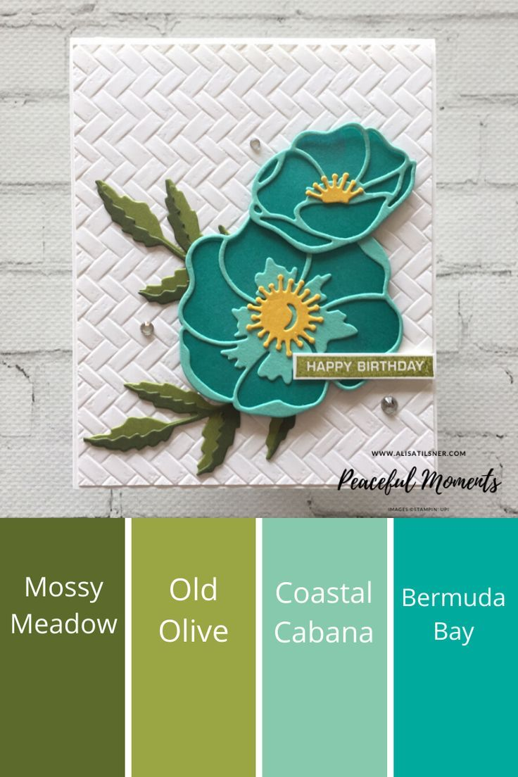 Stampin' Up! Peaceful Moments birthday cards created by Alisa Tilsner.  All products available from Alisa Tilsner.
