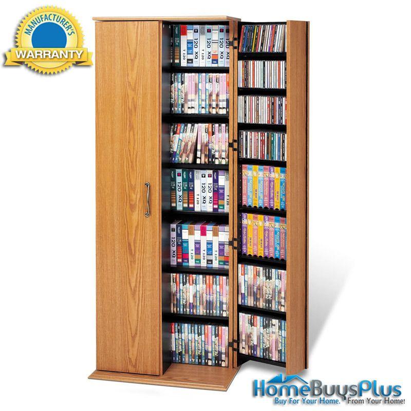 Delightful Oak U0026 Black Grande Locking Media Storage Cabinet. $299.03