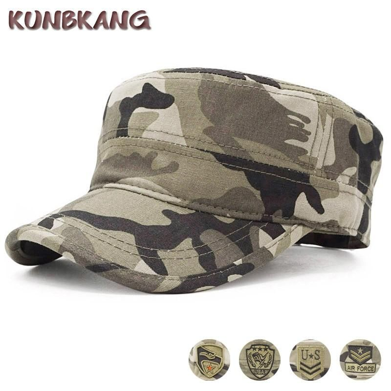 Army Classic Grid Caps Flat Along Baseball Hats Snapback Men Women Hat Adjustable Veteran