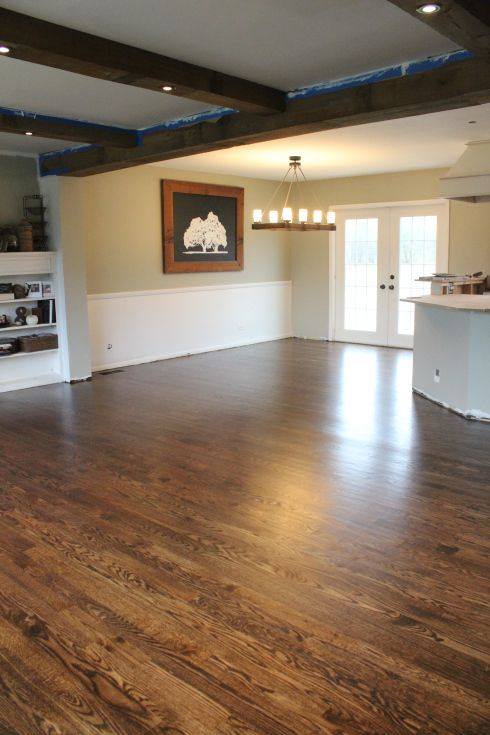 Like The Wood Beams With Lights Flooring Farmhouse Sink Hardwood Floors Dark