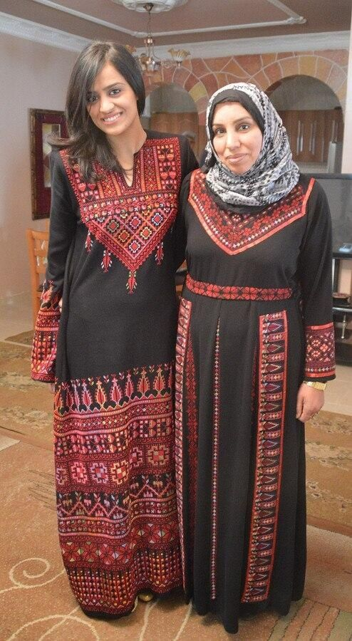Traditional palestinian dress embroidery