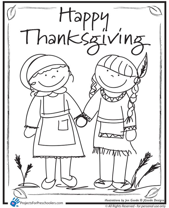 Happy Thanksgiving Friends - Projects For Preschoolers Thanksgiving Coloring  Sheets, Thanksgiving Coloring Pages, Fall Coloring Pages