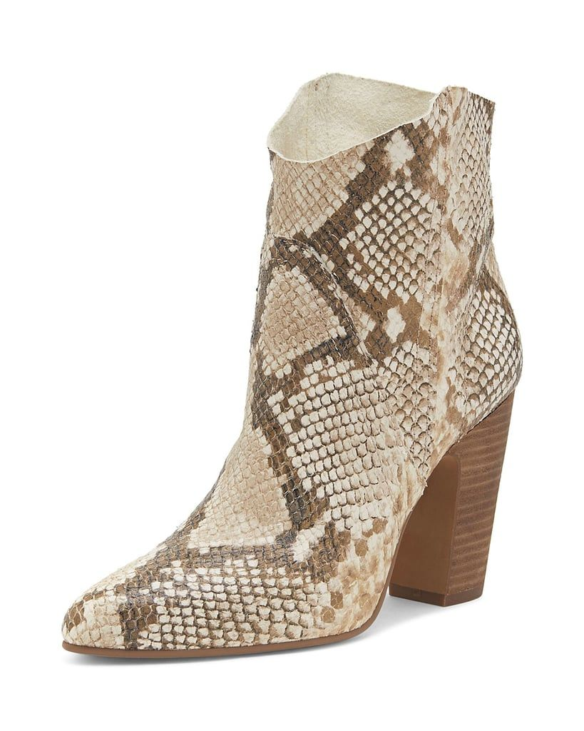 d194c5f5a35 Vince Camuto Women's Creestal Almond Toe Snakeskin-Embossed Leather ...
